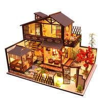 CUTEBEE niños juguetes casa de muñecas muebles ensamblar madera miniatura casa de muñecas Diy casa de muñecas rompecabezas juguetes educativos para niños P2
