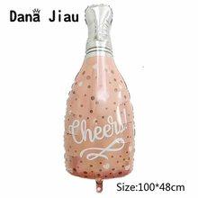 Danajiau feliz 30th festa de aniversário decoração rosa champanhe copos garrafa de uísque folha balão bola da escola alta balões