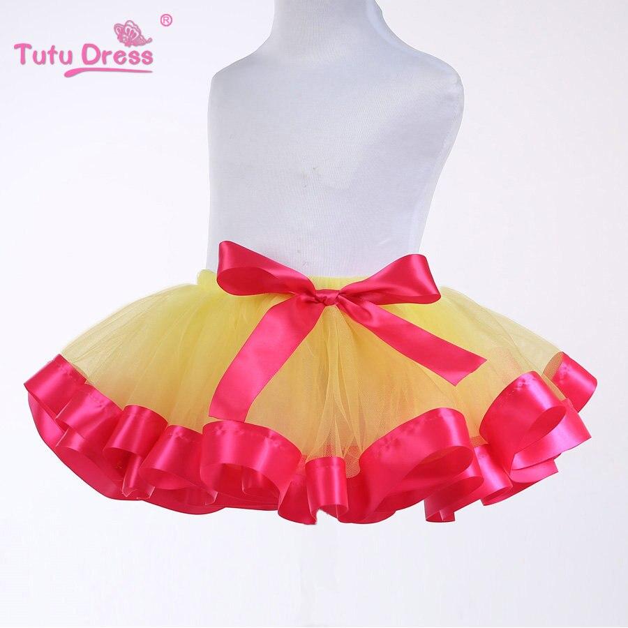 Baby Girl Sukně Lovely Fluffy Soft Tulle Girls Tutu Sukně Princezna Party Ballet Dance Wear Pettiskirt