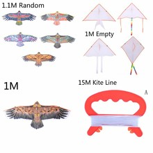 1Pc Big Flying Flat Eagle Bird Kite For Children Kites Windsock Outdoor Toys Garden Cloth Random Color