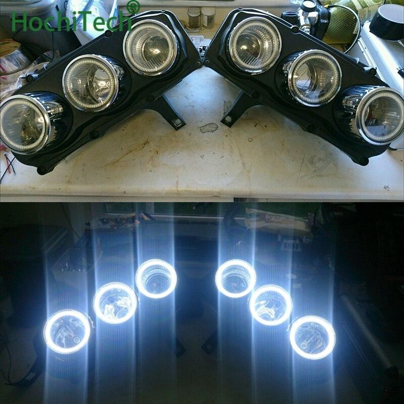 6pcs Super Bright white color 3528 SMD led Angel Eyes kit daytime running light DRL for Alfa Romeo 159 2005-2011 Car Styling