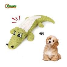 Милый крокодил Жевательная пищалка, игрушки для домашних животных, нетоксичные, мини вокальный крокодил, игрушка для собак, кошек, жевания, чириканье, плюшевые игрушки, принадлежности