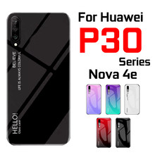 Case on for Huawei P30 lite nova 4e pro phone cover huewei huaway Huavei flip view p 30 4 e mirror P30lite luxury coque funda(China)