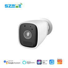 12000mAh Smart Life Tuya Battery Camera Night Vision Two Way Audio Cloud Recording Outdoor IP66 Waterproof Wired Free IP Camera