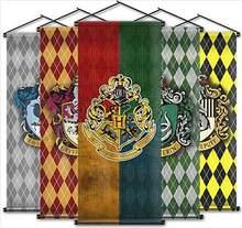 Bandera colgante de rejilla de Harry Potter, Bandera de ventilador, escena interior, barra, Bandera de decoración, se puede personalizar con mástil
