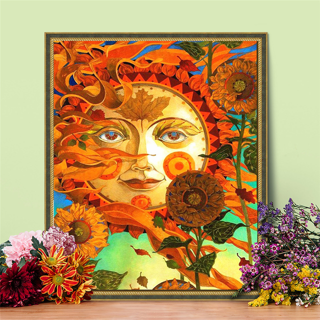 Painting By Numbers Sun Sunflowers Bright Colours