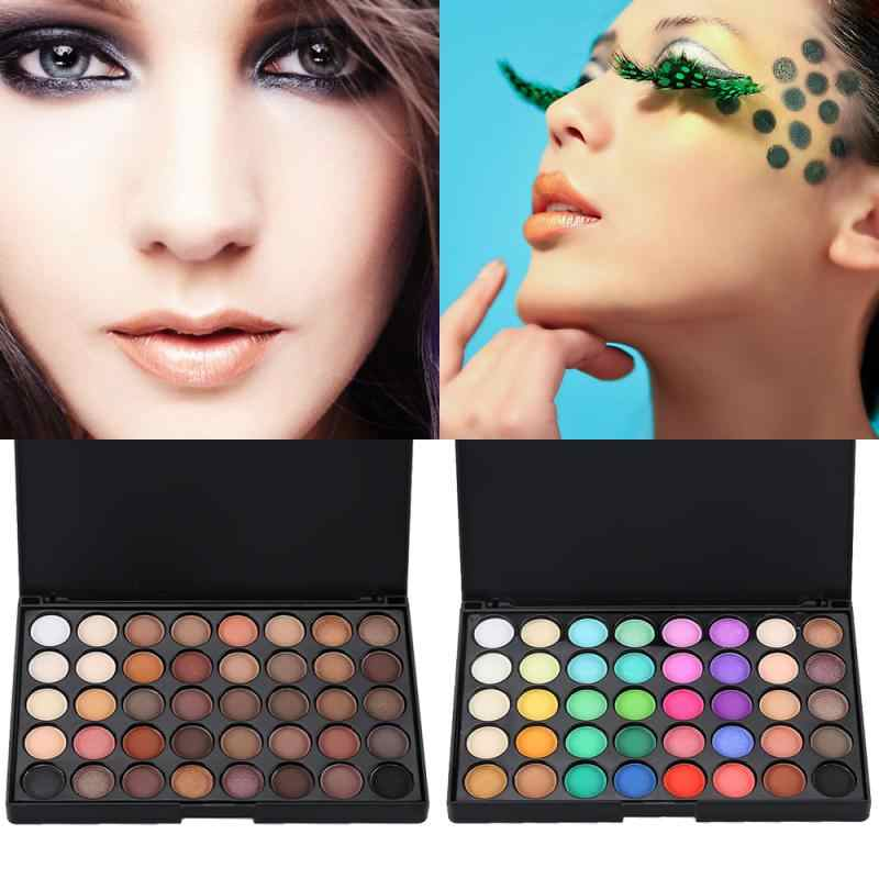40 Color Eye Shadow Palette Cream Long Last Eyeshadow Smoky Earth Easy To Wear Shimmer Eye Shadows Matte Cosmetic Great Gift