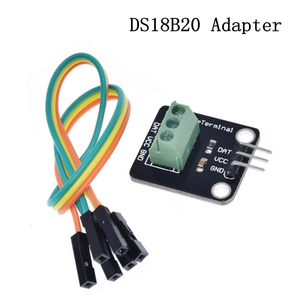 TZT DS1820 посылка из нержавеющей стали, водонепроницаемый датчик температуры DS18b20, датчик температуры 18B20 для Arduino - Цвет: DS18B20 Adapter