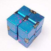 Высококачественный металлический бесконечный куб для пальцев EDC беспокойство снятие стресса магический куб блоки Детская забавная игрушка Лучшие подарки