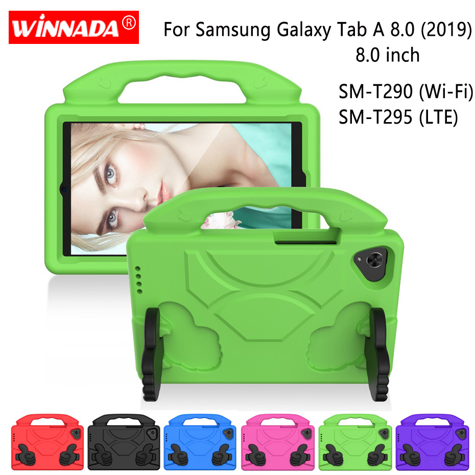 Ударопрочный чехол-подставка из ЭВА для Samsung, чехол для планшета 8,0 дюймов T290 T295, чехол для Samsung Galaxy Tab A 8,0 (2019), SM-T290