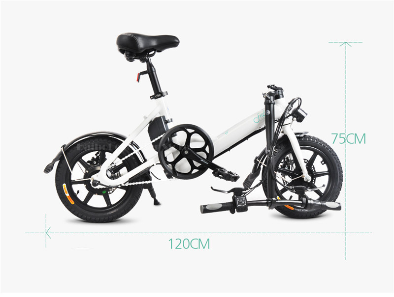 Fiido D3 Mini Electric Bike Two Wheels Electric Scooters 14 Inch 36V 250W Adults Portable Foldable Electric Bicycle With Seat (11)