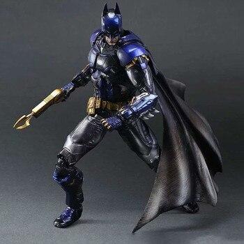 29cm Play Arts Kai Super Hero Batman blue Arkham Knight Anime Action Toy Figures Pvc Model Collection Original Box