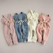 Pudcoco bebê recém-nascido menina listra macacão calças de algodão macio chegando em casa roupa terno para 0-3years criança