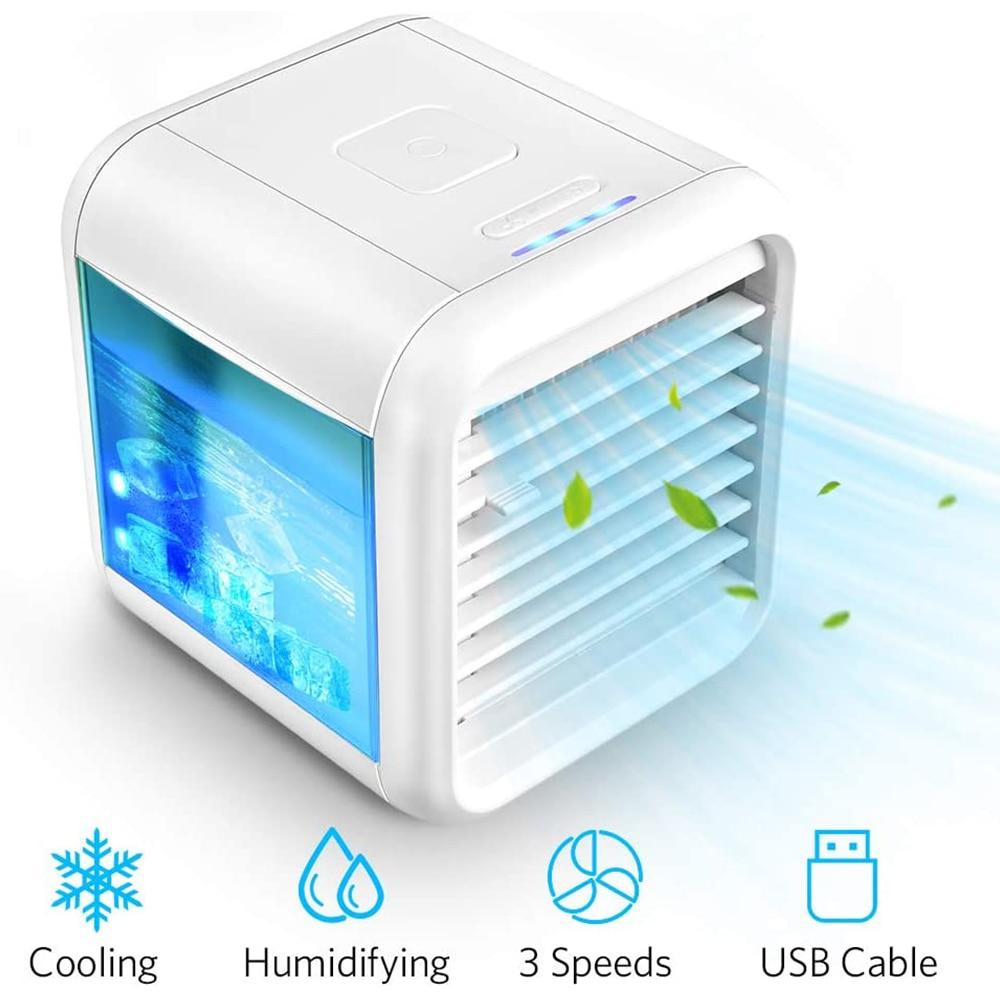 Air Conditioner Air Cooler Fan Portable Airconditioner For Home Room Office Air Conditioner Cooling Humidifier Mini Usb Desktop