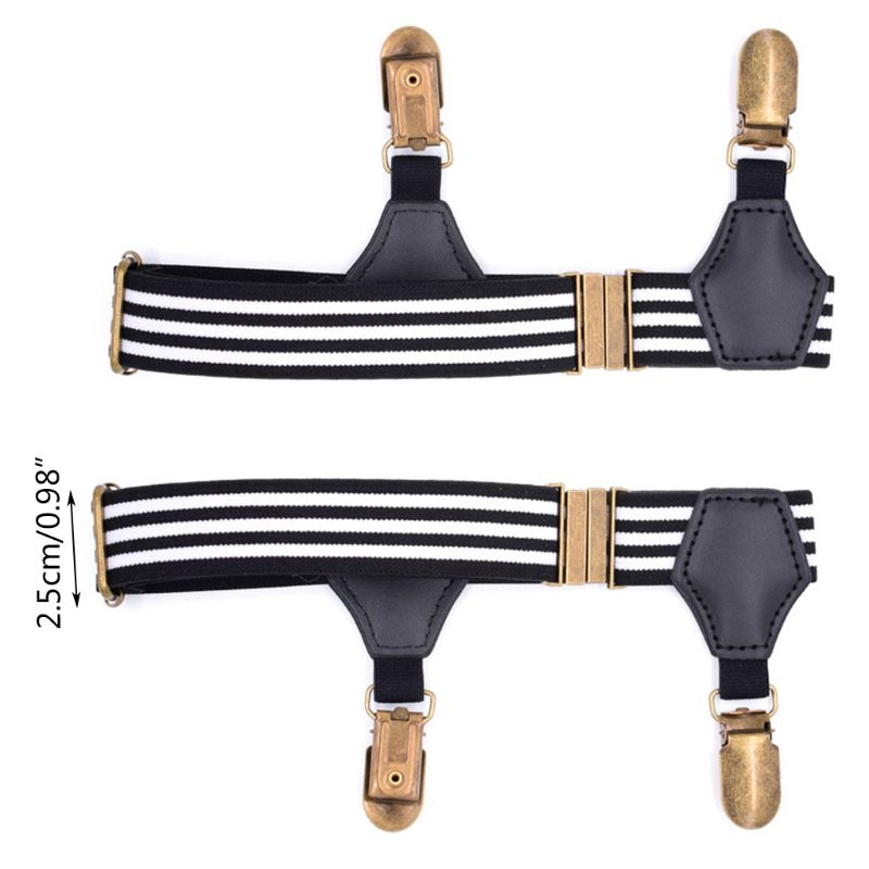 1Pair Elastic Mens Sock Remains Leg Suspenders Garter Clip Buckle Non-slip Clamp