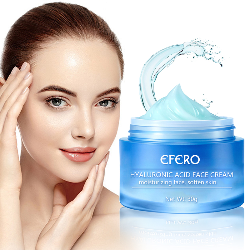 EFERO Moisturizing Hyaluronic Acid Face Cream Vitamine E Essence Whitening Repair Day Cream Anti-Aging Dry Hydration Skin Care