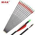 UNS 12/24/36 Pcs Mixed Carbon Pfeil 28/30 Zoll Wirbelsäule 500 Durchmesser 7,8mm für Verbindung/ recurve Bogen und Pfeil Bogenschießen
