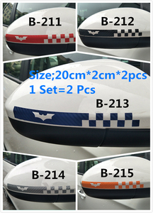 Image 3 - 1Set=2Pcs Car Sticker Bat Carbon Fiber Car Sticker Rearview Mirror Car Sticker Cute Decorative Car Sticker Smiley Face