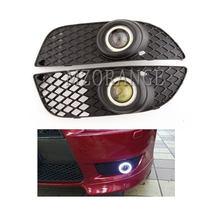 Phares antibrouillard LED pour Mitsubishi Lancer 2008 – 2014, DRL, yeux d'ange, couverture de cadre