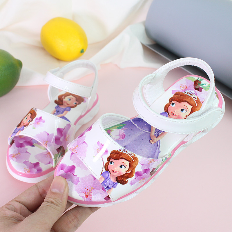 2020 Summer New Girl Sandals Fashion Cartoon Big Children 3D Beach Shoes