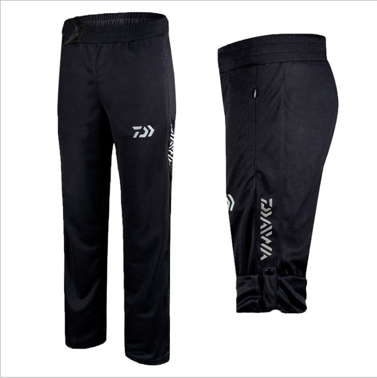 2020 Daiwa Anti-UV Quick-drying Fishing Pants High Quality Fisherman Outdoors Black Breathable Pants Plus Size Fishing Clothing