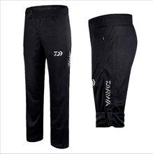 Daiwa calça de pesca anti uv com secagem rápida, calça para pesca de alta qualidade e ao ar livre, preta e respirável, tamanho grande, roupa de pesca, 2020
