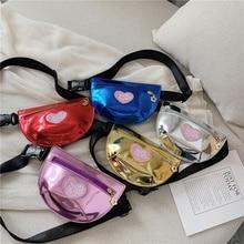 Милая Детская сумка через плечо для маленьких девочек; Новинка; сумка для малышей с принтом в виде букв и сердца; мини-сумка-мессенджер; детская сумка на плечо