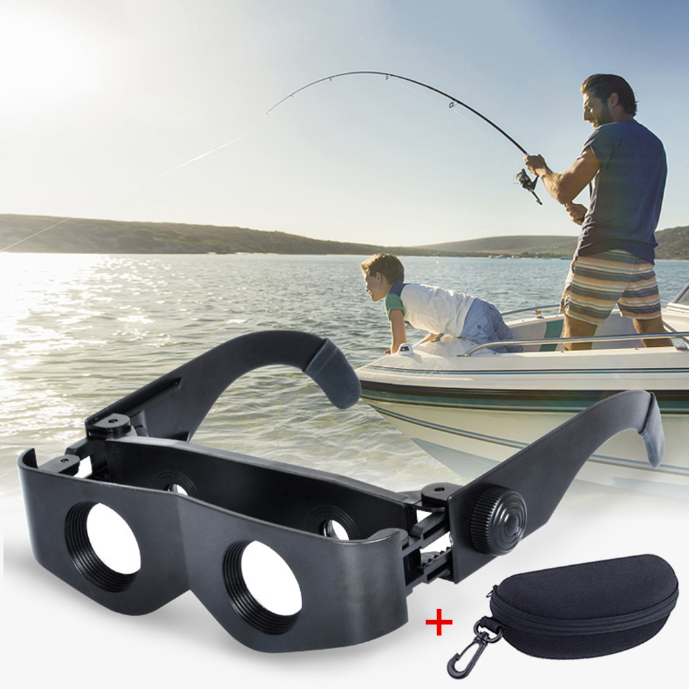 Portable Fishing Telescope Glasses Style Binoculars 8X Magnifier Adjustable Eyewear With Storage Case Fishing Accessories