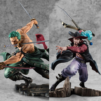 Anime One Piece Roronoa Zoro and Dracule Mihawk Fighting PVC Action Figure Three Thousand World Collectible Model Toy Gift japanese anime one piece roronoa zoro prisoner ver pvc action figure toys roronoa zoro figure decoration model toys kid gift