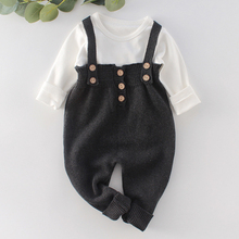 Toddler Girls Rompers Children Jumpsuits Costume Overall Knitted Newborn New Baby Warm