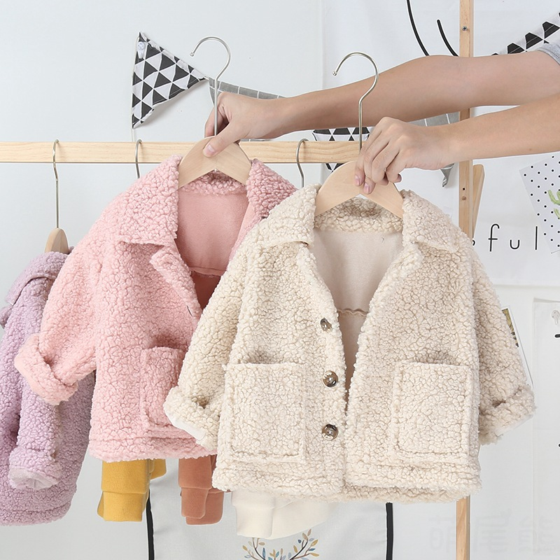 Baby girls warm outerwear winter toddler fashion thick velvet coats clothes for bebe girl children casual jackets outfits 1 2 3Y