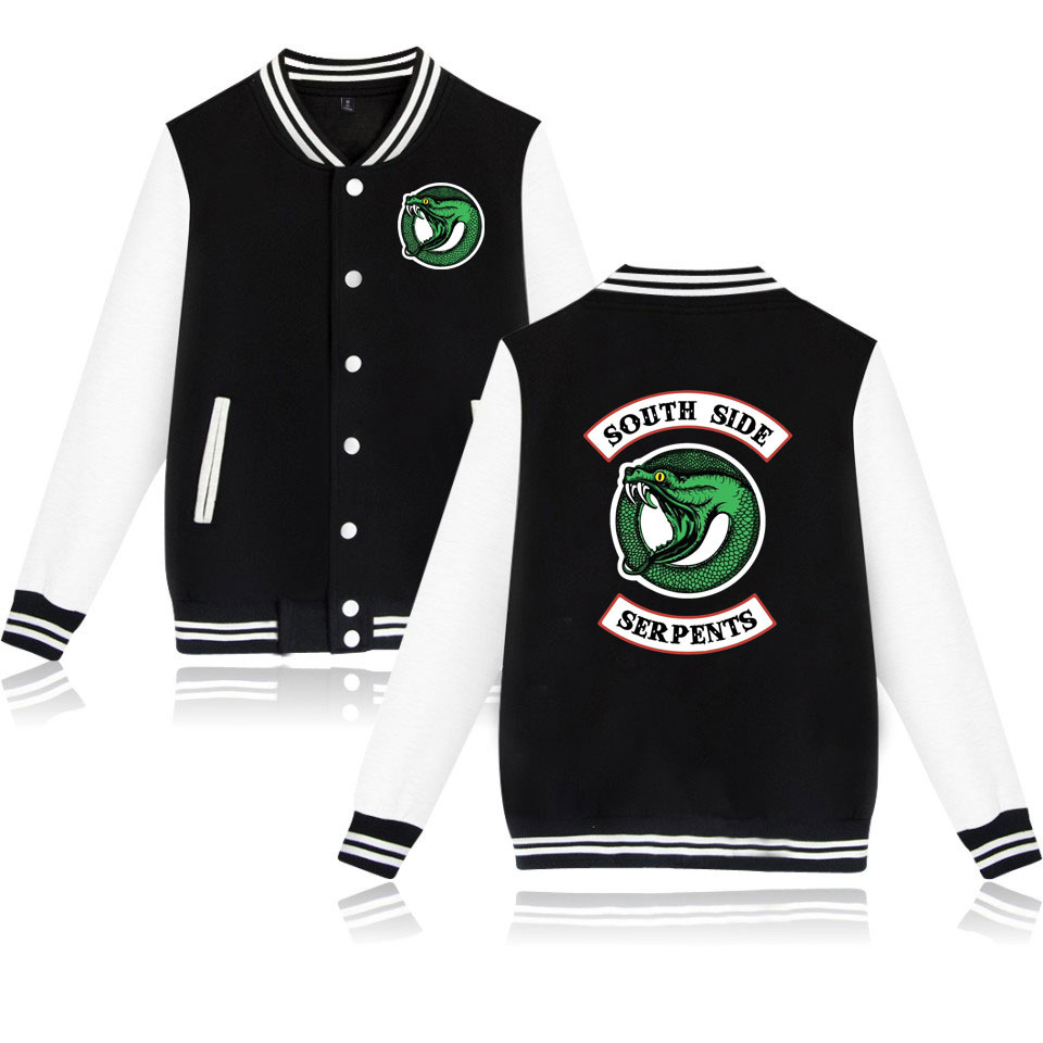 4 Color Black/Pink American TV Riverdale Women/Men Fashion Jacket Fans Casual Baseball Jacket Couples Baseball Jacket Plus Size