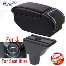 Reposabrazos para Seat Ibiza, caja de almacenamiento de contenido de tienda central con portavasos, productos para reposabrazos