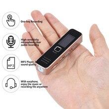 Digital Voice Recorder Audio Diktiergerät MP3 Player Mini Voice Recorder Unterstützung 32GB TF Karte 20-stunde Aufnahmezeit für Treffen