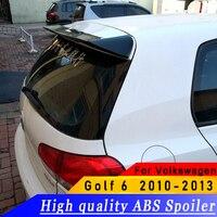 For Volkswagen Golf 6 2010 to 2013 spoiler ABS high quality material spoiler primer or white or black Golf 6 spoiler