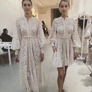 YAMDI элегантное платье для женщин на весну и лето, вечерние платья трапециевидной формы в Корейском стиле с длинным рукавом-фонариком, винтаж...