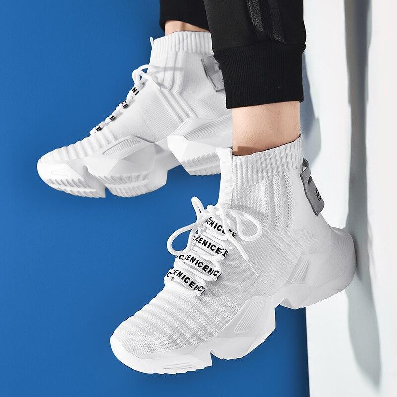 Dam yuan Men's Retro Sock Sneakers Chunky Men Shoes Breathable Men  3