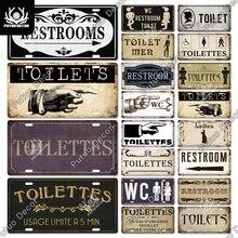 Декоративная винтажная металлическая жестяная вывеска Putuo, железная картина, забавное руководство для бара, клуба, туалета, ванной комнаты, ...