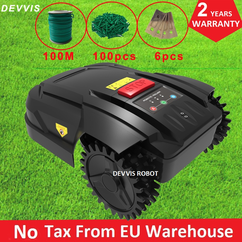 New the 7th Cheapest Robot Brush Cutter Automatic H750 With WiFi App Control, 2.2AH Li-ion Battery,100m wire,100pcs pegs