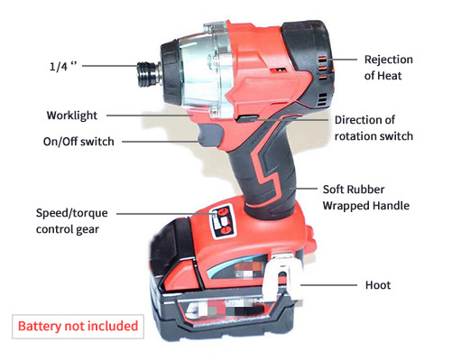 Replacement For Milwaukees <font><b>M18</b></font> Impact Driver <font><b>1/4</b></font> in. Hex 18-Volt Lithium-Ion (Tool-Only) image