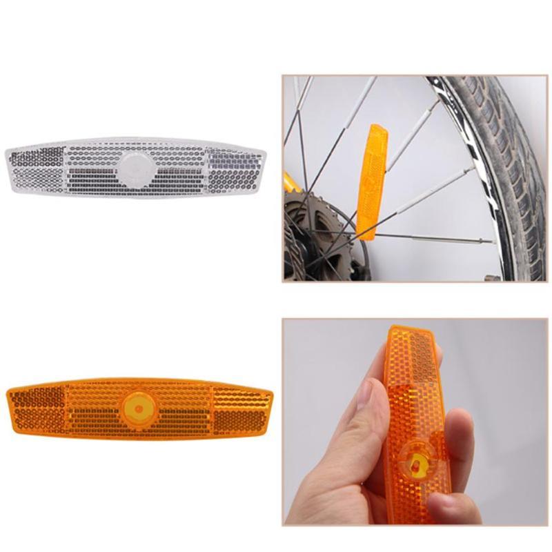 Предупреждение ющий отражатель, портативный велосипедный колесный безопасный спиц отражатель, светоотражающее крепление Предупреждение ющий лист, белый/желтый
