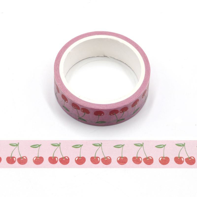 15mm X 5m Cute Sakura Flower, Plants Decorative Paper Washi Tape  Cherry DIY Scrapbooking Masking Tapes School Office Supply