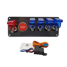 12V LED Ignition Switch Panel for Racing Car Engine Start Push Button LED Starter Toggle switch Panel
