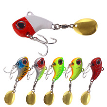 YUZI New Metal Mini VIB With Spoon Fishing Lure 9g/13g/16g/22g Tackle Pin Crankbait Vibration Spinner Sinking Bait