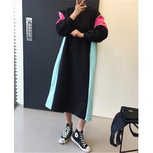 Женское платье свитшот с круглым вырезом повседневное бархатное