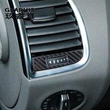 Garniture de sortie d'air en fibre de carbone pour Audi Q7 4L, autocollant de décoration pour cadre de sortie d'air, couverture, accessoires automobiles d'intérieur