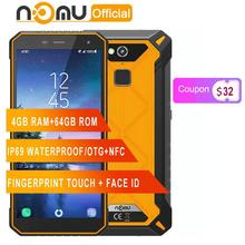 "Nomu S50 Pro IP69 Mobile Ponsel Android 8.1 5.72 ""HD + Octa Core MTK6763 4 GB 64 GB NFC Face ID 16MP 5000 MAh Smartphone(China)"
