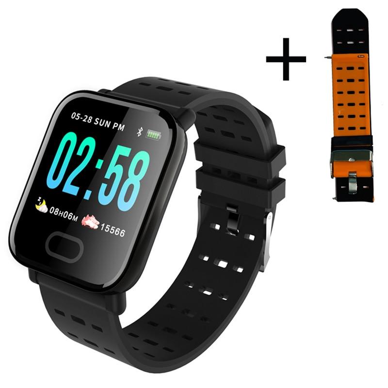 Smartwatch a6 unissex, relógio inteligente, monitor cardíaco, monitor de pressão sanguínea, a prova d' água, para telefones ios e android