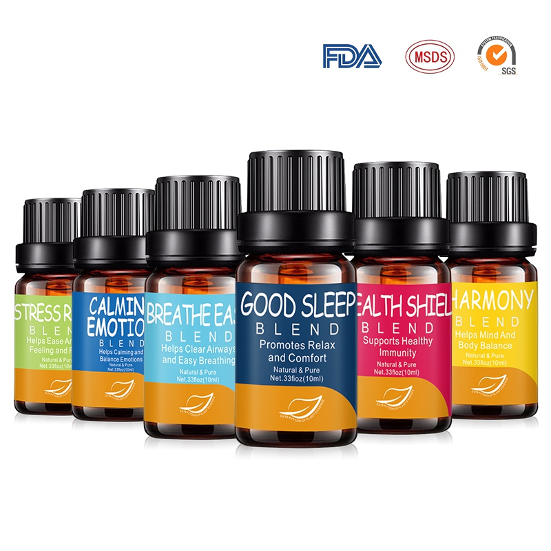6 Pcs Pure Natural Aromatherapy Diffusers Essential Oils Organic Body Essential Oils Set Anti-stress Skin Care Help Sleep image