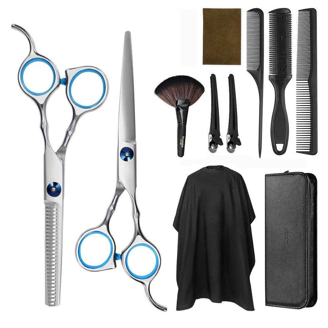 9/10/11 PCS Hair Cutting Scissors Professional Hair Scissors Tail Comb Hair Cape Hair Cutter Comb Cutting Scissors Hair